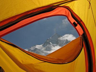 Gasherbrum 2009 / Krásné výhledy z okna. Jen kdyby to tělo lépe aklimatizovalo.