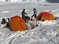 Atady je již máme postavené naplacce vprvním výškovým táboře.